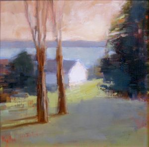 10. Ileen Kaplan Morning at the Lake Oil on panel 18