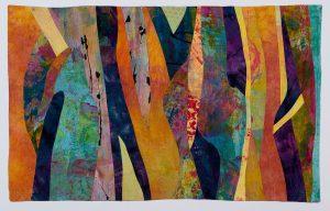 """Barbara Behrmann • <em>Autumn Harvest</em> • Fabric (mostly hand-dyed) • 37""""×23"""" • $765.00"""