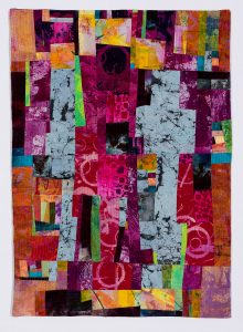 "Barbara Behrmann • <em>Seven O'Clock</em> • Fabric (hand-dyed) • 24""×34"" • $735.00"