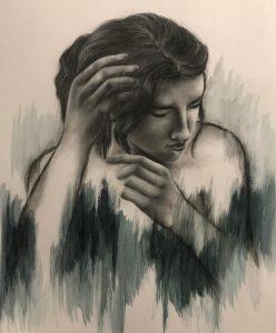 "Julia Bertussi • <em>Incomplete Movement</em> • Multi-media (charcoal+) • 16""×24"" • NFS"