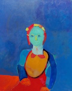 "<span class=""award_name"">Merit Award</span>Vincent Joseph • <em>Care for the Self</em> • Acrylic on canvas • 16""×20"" • $750.00"