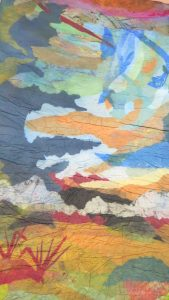 "Denise Kooperman • <em>There Will Be Brighter Days</em> • Felted papers • 36""×60"" • NFS"