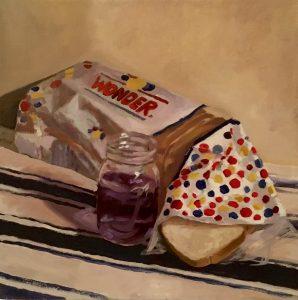 "Jonathan MacGregor • <em>American Communion</em> • Oil on canvas • 16""×16"" • $850.00"