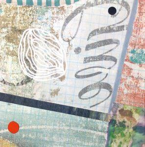 """Michele O'Brien • <em>Give</em> • Collage • 5""""×5"""" • $95.00"""