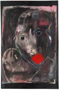 "Ian Ratowsky • <em>NO MAS SILENCIO</em> • Mixed media on agave fiber paper on canvas • 56""×86"" • $22,000.00"