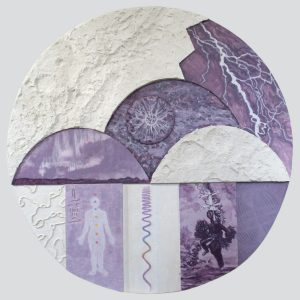 "Jesse Townsley • <em>Electric Universe</em> • Acrylic, gesso, wood • 30""×30""×1"" • NFS"