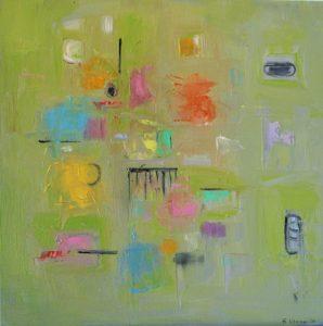 "Ethel Vrana • <em>Follow Me</em> • Oil on canvas • 20""×20"" • $500.00<a class=""purchase"" href=""https://state-of-the-art-gallery.square.site/product/ethel-vrana-follow-me/200?cp=true&sa=false&sbp=false&q=false&category_id=32"" target=""_blank"">Buy</a>"