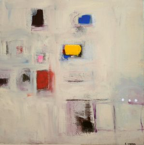 "Ethel Vrana • <em>Passage</em> • Oil on canvas • 20""×20"" • $500.00<a class=""purchase"" href=""https://state-of-the-art-gallery.square.site/product/ethel-vrana-passage/201?cp=true&sa=false&sbp=false&q=false&category_id=32"" target=""_blank"">Buy</a>"
