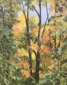 """Patty Porter • <em>Cold Springs Road ~ Morning Light</em> • Oil on canvas • 11""""×14"""" • $250.00<a class=""""purchase"""" href=""""https://state-of-the-art-gallery.square.site/product/patty-porter-cold-springs-road-morning-light/224?cp=true&sa=false&sbp=false&q=false&category_id=32"""" target=""""_blank"""">Buy</a>"""