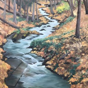 "Patty Porter • <em>Covert Gorge</em> • Oil on convass • 16""×24"" • $900.00 • <a class=""purchase"" href=""https://state-of-the-art-gallery.square.site/product/patty-porter-covert-gorge/238"" target=""_blank"">Buy</a>"