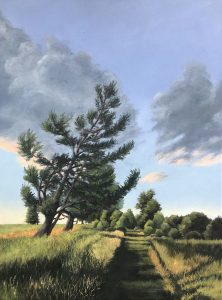 """Patty Porter • <em>Interlocken Trail</em> • Oil on canvas • 18""""×24"""" • $700.00<a class=""""purchase"""" href=""""https://state-of-the-art-gallery.square.site/product/patty-porter-interlocken-trail/269"""" target=""""_blank"""">Buy</a>"""