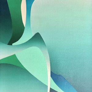 Frances Fawcett • <em>Wings 3</em> • Acrylic on canvas • NFS
