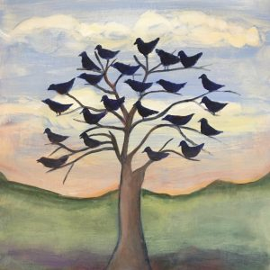 "Jane Dennis • <em>The Birds Agree</em> • 12""×14"" • $150.00"