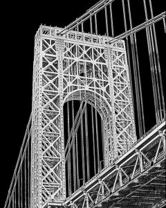 """Nancy V. Ridenour • <em>George Washington.Bridge</em> • Archival inkjet on canvas • $150.00<a class=""""purchase"""" href=""""https://state-of-the-art-gallery.square.site/product/nancy-v-ridenour-george-washington-bridge/343"""" target=""""_blank"""">Buy</a>"""