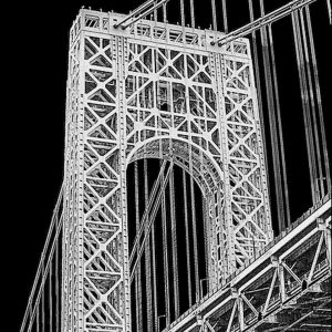 """Nancy V. Ridenour • <em>George Washington.Bridge</em> • Archival inkjet on canvas • $150.00 • <a class=""""purchase"""" href=""""https://state-of-the-art-gallery.square.site/product/nancy-v-ridenour-george-washington-bridge/343"""" target=""""_blank"""">Buy</a>"""