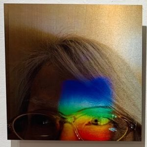 "Connie Zehr • <em>Spectral Projections: On My Mind</em> • Metal print • 10""×10"" • NFS"