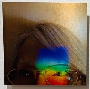 "Connie Zehr • <em>Spectral Projections: On My Mind</em> • Metal print • 10""×10"" • NFS"