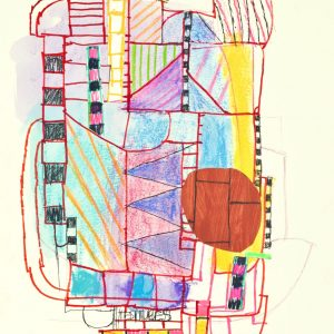 """Elizabeth Wickenden McMahon • <em>Serendipity</em> • Mixed media on paper • 12""""×16"""" • $325.00 • <a class=""""purchase"""" href=""""https://state-of-the-art-gallery.square.site/product/elizabeth-wickenden-mcmahon-serendipity/353"""" target=""""_blank"""">Buy</a>"""