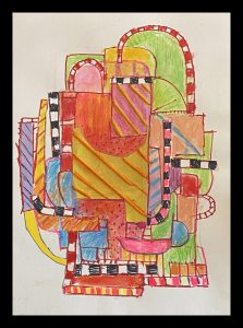 """Elizabeth Wickenden McMahon • <em>Simpatico</em> • Mixed media on paper • 11""""×15"""" • $325.00<a class=""""purchase"""" href=""""https://state-of-the-art-gallery.square.site/product/elizabeth-wickenden-mcmaon-simpatico/354"""" target=""""_blank"""">Buy</a>"""