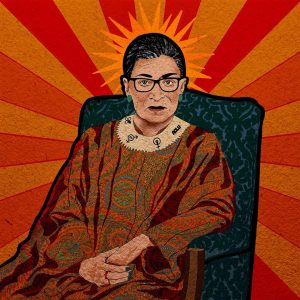 """Yen Ospina • <em>The Notorious RBG</em> • Framed digital art print • 13""""×13"""" • $85.00 • <a class=""""purchase"""" href=""""https://state-of-the-art-gallery.square.site/product/yen-ospina-the-notorious-rbg/381"""" target=""""_blank"""">Buy</a>"""