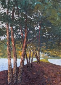 """Diana Ozolins • <em>Millers Grove</em> • Oil on canvas • 20""""×28"""" • $960.00<a class=""""purchase"""" href=""""https://state-of-the-art-gallery.square.site/product/diana-ozolins-miller-s-grove/434"""" target=""""_blank"""">Buy</a>"""