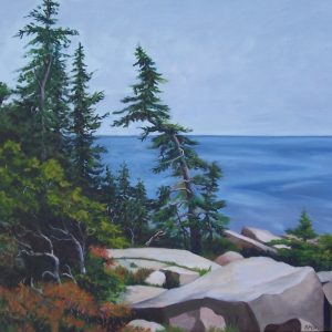 "Patty L Porter • <em>Schoodic I ~ Acadia National Park</em> • Oil on canvas • 23¼""×21½"" • $650.00"