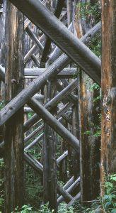 "James Burlitch • <em>Trestle Maze</em> • Giclée on canvas • 13""×24"" • $170.00<a class=""purchase"" href=""mailto:jmb32@cornell.edu?subject=Inquiry about Trestle Maze"" target=""_blank"">Contact</a>"