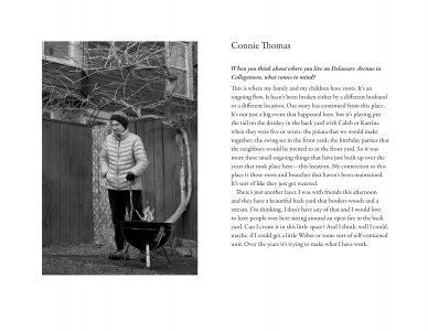 "Susan C. Larkin • <em>Connie Thomas</em> • Digital print • 22""×17"" • NFS"