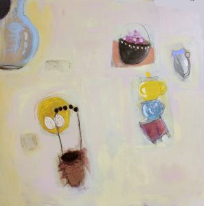 """Ethel Vrana • <em>Still Life with Nest</em> • Oil on canvas • 36""""×36"""" • $1,240.00<a class=""""purchase"""" href=""""https://state-of-the-art-gallery.square.site/product/ethel-vrana-still-life-with-nest/503"""" target=""""_blank"""">Buy</a>"""