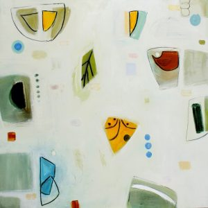 """Ethel Vrana • <em>Yellow-orange and Blue-purple</em> • Oil on canvas • 36""""×36"""" • $1,240.00<a class=""""purchase"""" href=""""https://state-of-the-art-gallery.square.site/product/ethel-vrana-yellow-orange-and-blue-purple/498"""" target=""""_blank"""">Buy</a>"""