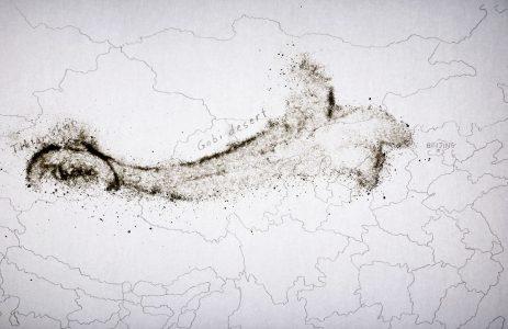 Christine Chin • <em>Dust Storm Animations: 2021 March Gobi Desert-Beijing</em> • Sand animation • $250.00