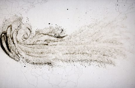 Christine Chin • <em>Dust Storm Animations: 2020 June Sahara-Atlantic-Americas (Godzilla)</em> • Sand animation • $250.00