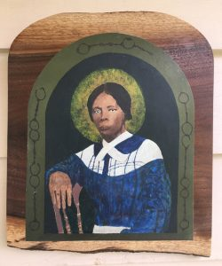"Don Ellis • <em>Saint Harriet Tubman</em> • Multi-media print • 12""×12"" • $50.00<span class=""sold""></span>"