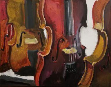 """Irina Kassabova • <em>Chosen </em> • Oil on canvas • 30""""×24"""" • $450.00"""