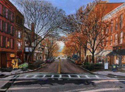 "Ed Brothers • <em>State Street, November</em> • Print on watercolor paper; artist proof • 11½""×8½"" • $50.00"