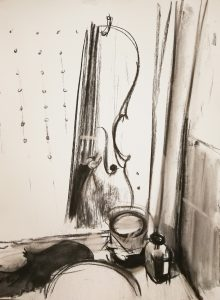 Irina Kassabova • <em>Varnish</em> • Charcoal • $450.00