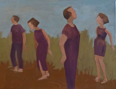 "Diana Ozolins • <em>Anxiety</em> • Oil on canvas • 16""×12"" • $350.00"
