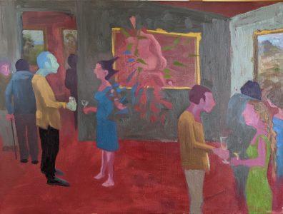 """Diana Ozolins • <em>Unwelcome Guests</em> • Oil on canvas • 24""""×18"""" • $650.00"""