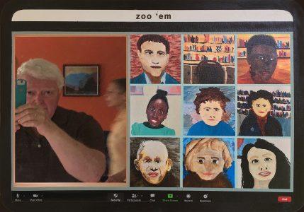 "Don Ellis • <em>zoo 'em</em> • Multi-media print • 20""×14"" • $385.00"