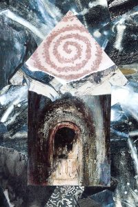 "Patricia Brown • <em>Sanctuary, House Home Series #1</em> • Metal print • 18""×24"" • $149.00"