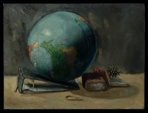 Globe with Brick